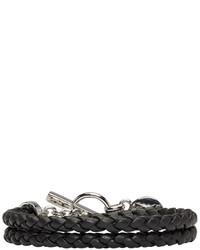 Versus Black Braided Bracelet