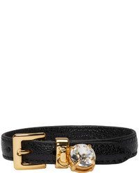 Miu Miu Black Crystal Belt Bracelet