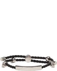Alexander McQueen Black Friendship Skull Bracelet