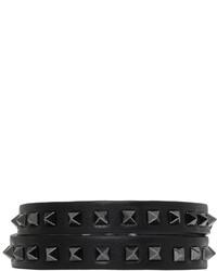 Valentino Black Garavani Mini Rockstud Bracelet