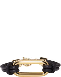 Isabel Marant Black Leather Skate Bracelet