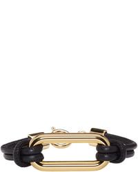 Isabel Marant Black Leather Skate Bracelet