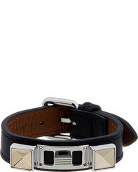 Proenza Schouler Black Leather Studded Bracelet