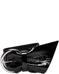 Isabel Marant Black Patent Leather Bracelet