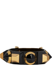 Fendi Black Rainbow Cuff Bracelet