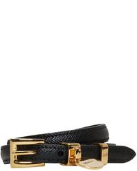Prada Black Saffiano Double Wrap Bracelet