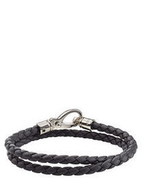 Tod's Braided Leather Wrap Bracelet