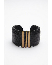 Free People Clp Jewelry Triple Bar Leather Cuff
