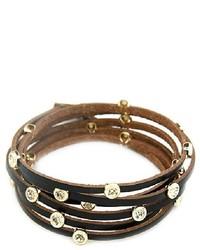 ChicNova Diamante Multi Layer Leather Bracelet