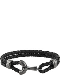 Bottega Veneta Double Intrecciato Leather Bracelet