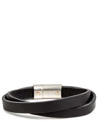 H&M Double Strap Leather Bracelet