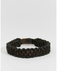 Jack and Jones Jack Jones Leather Weave Bracelet
