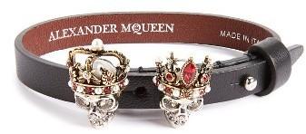 Alexander McQueen King Queen Skull Bracelet