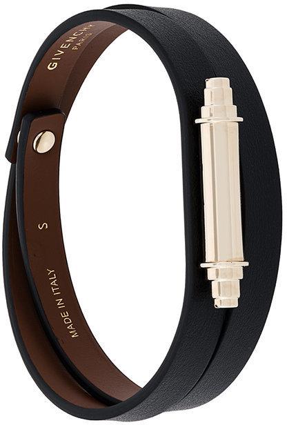 Givenchy Metallic Bar Wrap Bracelet