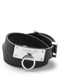 Michael Kors Michl Kors Leather Wrap Bracelet Black