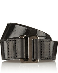 Mm6 Maison Margiela Leather Trimmed Coated Elastic Wrap Bracelet