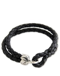 NOVICA Leather Braided Bracelet Warrior