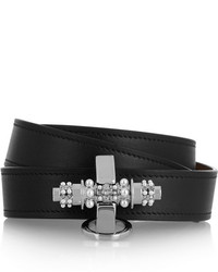 Givenchy Obsedia Bracelet In Black Leather