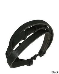 Overstock Genuine Leather Mystic Layers Bracelet