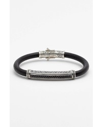 Konstantino Plato Leather Bracelet