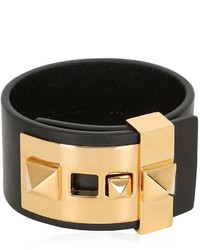 Rockstud leather cuff bracelet medium 3734274