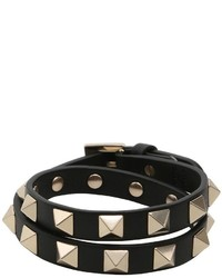 Valentino Rockstud Wrap Around Leather Bracelet
