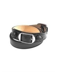 Balenciaga Rubber Stud Wrap Around Leather Bracelet