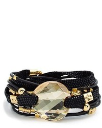 Nordstrom Sara Designs New York Leather Stone Wrap Bracelet