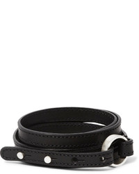 Maison Margiela Silver And Leather Wrap Bracelet
