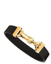Marc by Marc Jacobs Simple Leather Bracelet Black