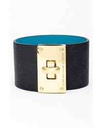 Marc by Marc Jacobs Turnlock Wide Leather Bracelet