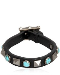 Valentino Rockstud Rolling Leather Bracelet