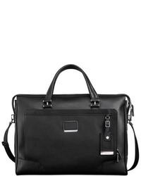 Tumi Astor Regis Slim Zip Top Italian Leather Briefcase