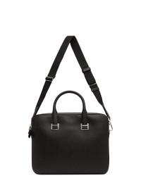 Dunhill Black Cadogan Single Gusset Briefcase