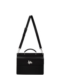Fendi Black Double Faced Business Briefcase
