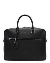 Saint Laurent Black Sac De Jour Briefcase