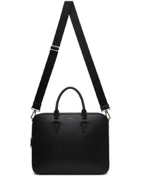 Versace Black V Leather Briefcase