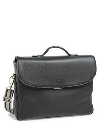 Canali Calfskin Leather Briefcase