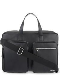 Diesel Crash Leather Briefcase