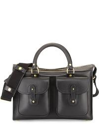 Ghurka Examiner Vintage Leather Briefcase Black