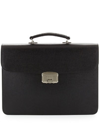 Royce Leather Gps Tracking Rfid Blocking Leather Briefcase Black