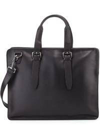 John Varvatos Hallowell Leather Briefcase Black