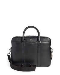 BOSS Signature Leather Briefcase