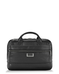 Briggs & Riley Work Slim Leather Laptop Briefcase