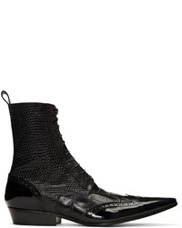 Haider Ackermann Black Brogue Boots