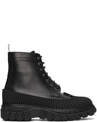 Thom Browne Black Longwing Duck Lace Up Boots