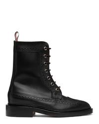 Thom Browne Black Pebble Mix Longwing Boot