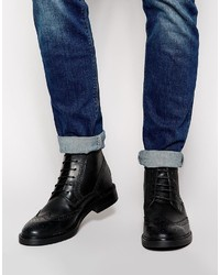 Base London Brocket Leather Brogue Boots