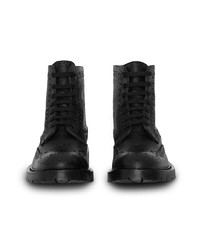 Burberry Brogue Detail Y Leather Boots