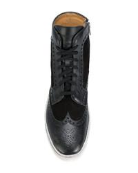 Santoni Brogue Detailing Boots